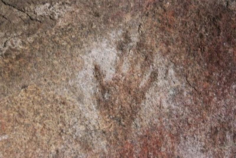 Testimonianza della presenza aborigena nella Mulka's Cave