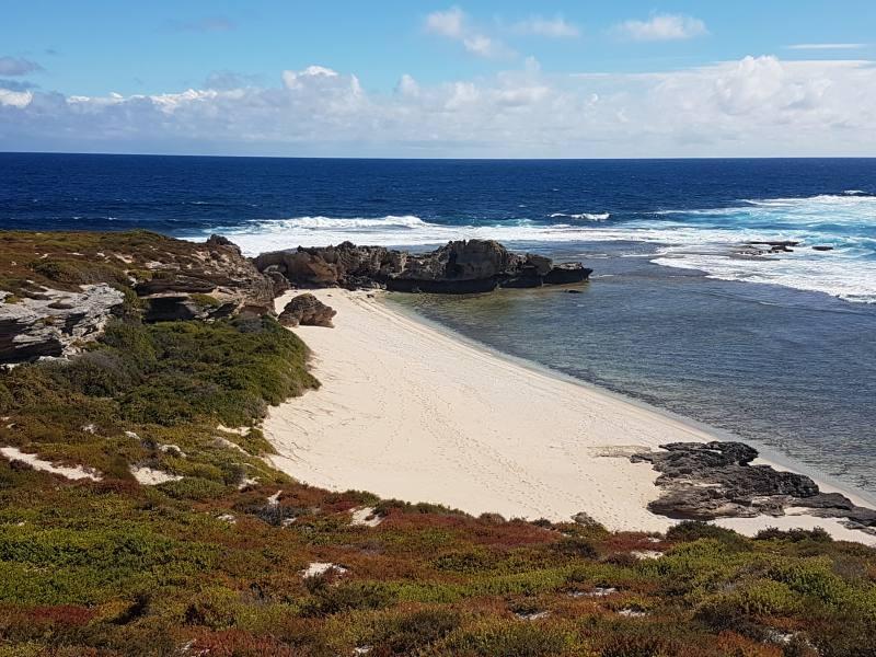 Spiaggia di Eagle Bay vicino a Cape Vlamingh di Rottnest Island