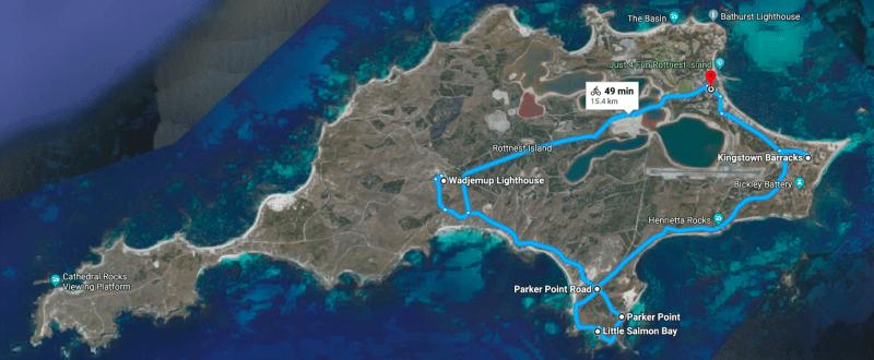 Itinerario secondo giorno in bici di Rottnest Island