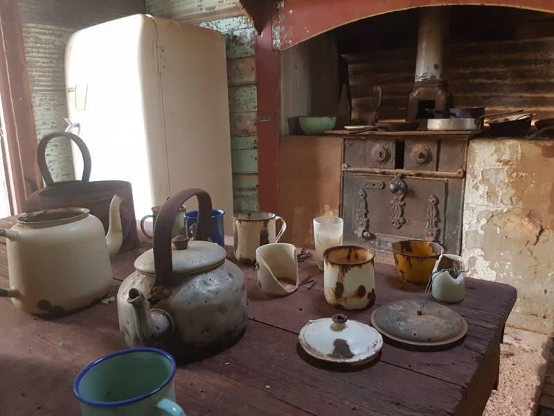 Casa abbandonata nella Ghost Town di Gwalia