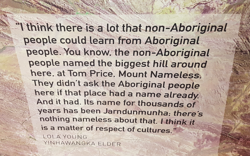 Frase sui nomi dei luoghi dati dagli aborigeni australiani