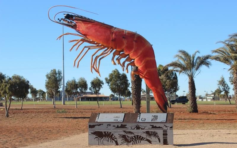 "Gambero gigante ""Big Prawn"" a Exmouth in Western Australia"