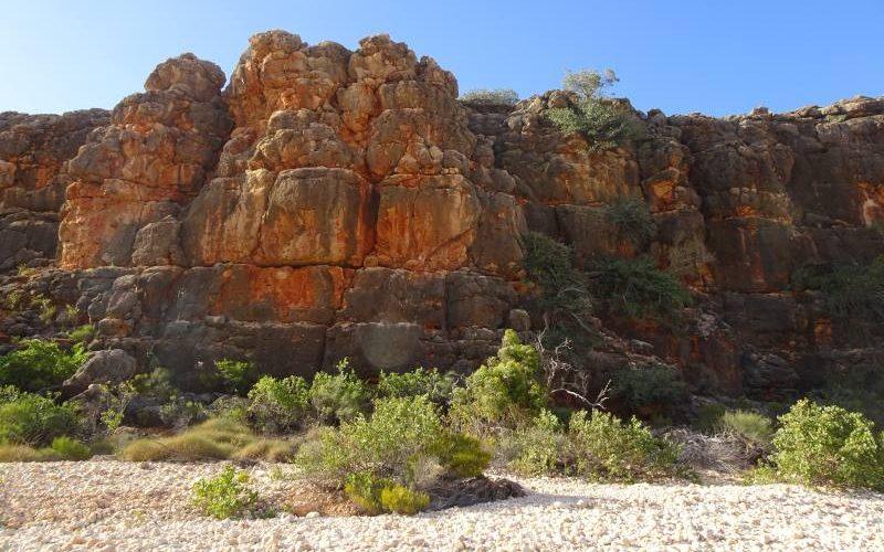 Percorso trekking Mandu Mandu Gorge dentro il Parco Nazionale Cape Range in Western Australia