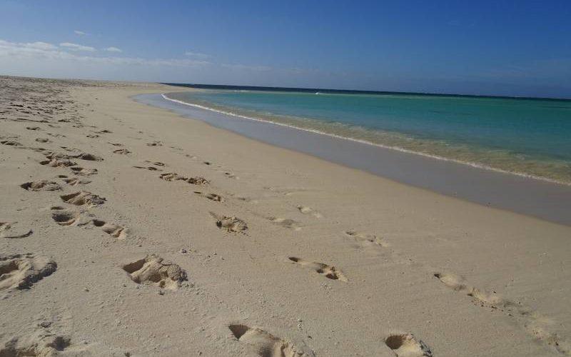 Spiaggia di Turquoise Bay nel Parco Nazione Cape Range in Western Australia