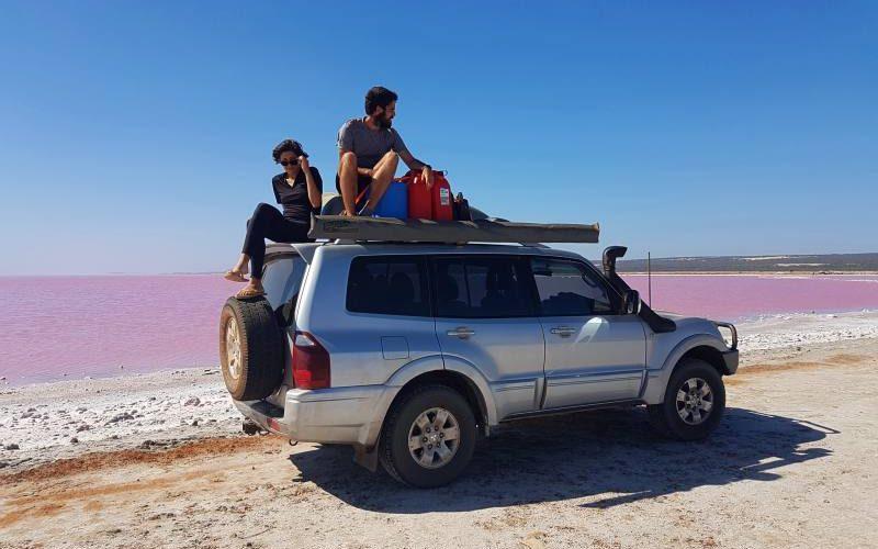 L'Hutt Lagoon, il lago rosa vicino al Parco Nazionale Kalbarri in Western Australia