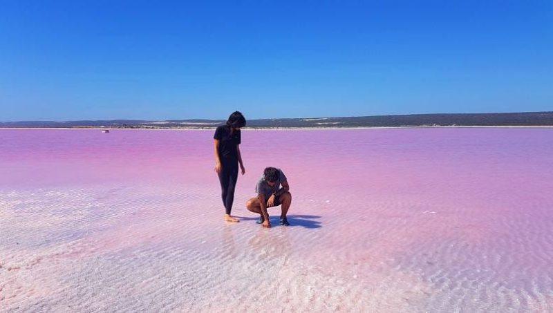 I meravigliosi colori del Pink Lake (Lago Rosa) in Western Australia