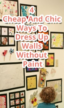 4 Cheap And Chic Ways To Dress Up Walls Without Paint