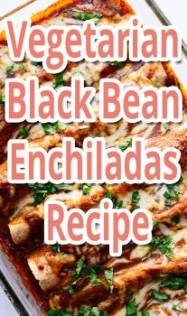 Vegetarian Black Bean Enchiladas – Recipe