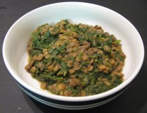 Lentils And Spinach - Vegan Recipe