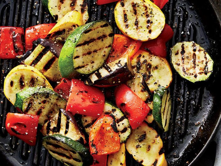 Grilled Vegetables With Walnut Sauce – Recipe