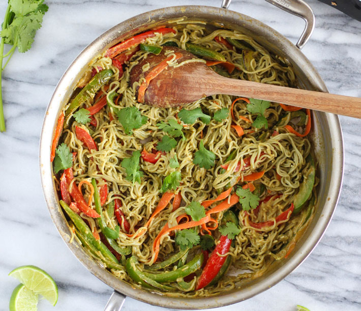 Vegan Thai: Green Curry Noodle Bowl – Recipe