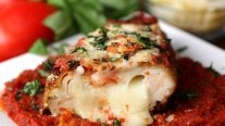 Easy Stuffed Chicken Parmesan - Recipe