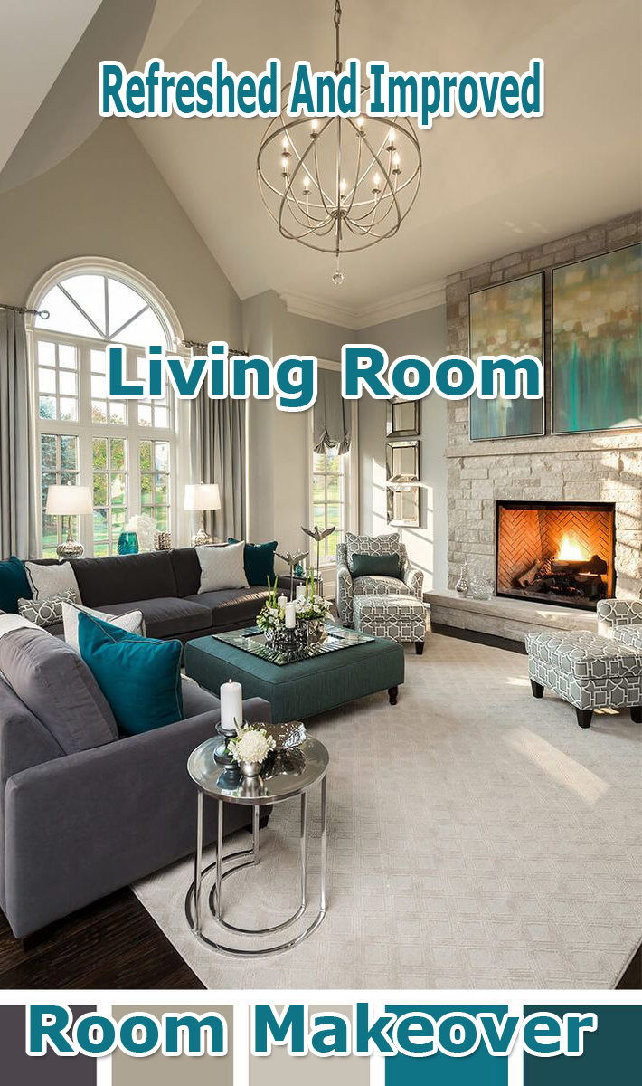 Refreshed And Improved Living Room: Room Makeover