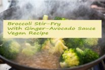 Broccoli Stir-Fry With Ginger-Avocado Sauce - Vegan Recipe