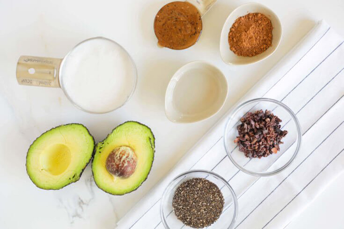 Avocado, Chia Seeds And Cacao Smoothie - Keto Recipe