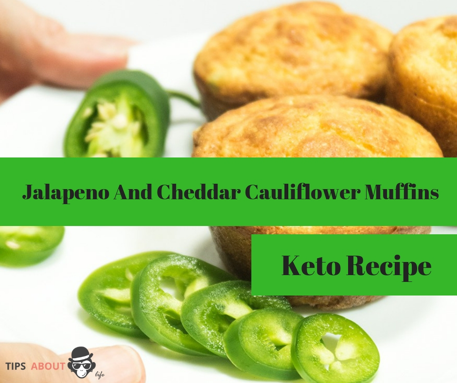 Jalapeno And Cheddar Cauliflower Muffins - Keto Recipe
