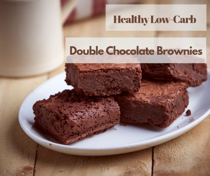 Healthy Low-Carb Double Chocolate Brownies