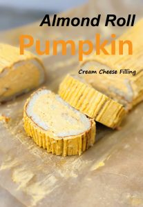 Almond Roll With Pumpkin Cream Cheese Filling