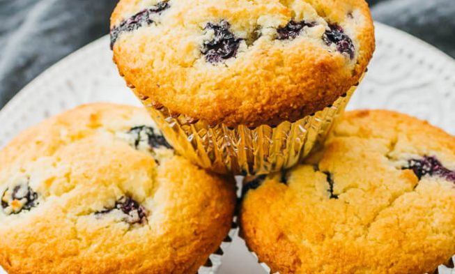 Blueberry Muffins With Almond Flour – Keto Low Carb Paleo