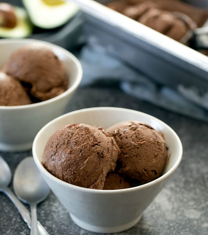 Chocolate Avocado Keto Ice Cream