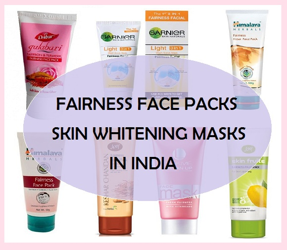 Fairness face packs and skin whitening masks in India