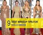 9 Amazing Makeup Tips for your Golden Dresses