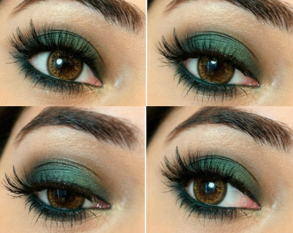 eye shadow color green