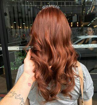 ruivo cabelo tintura cor tendencia