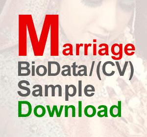 Marriage Bride CV Biodata resume Sample matrimonial resume sample ...