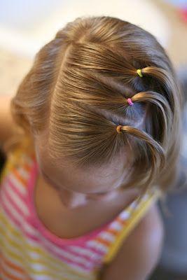Peinados con ligas para nias  Tips De Madre
