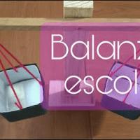 Como hacer una balanza escolar