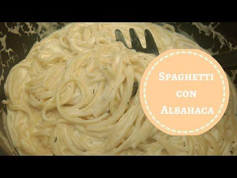 Receta spaghetti con albahaca