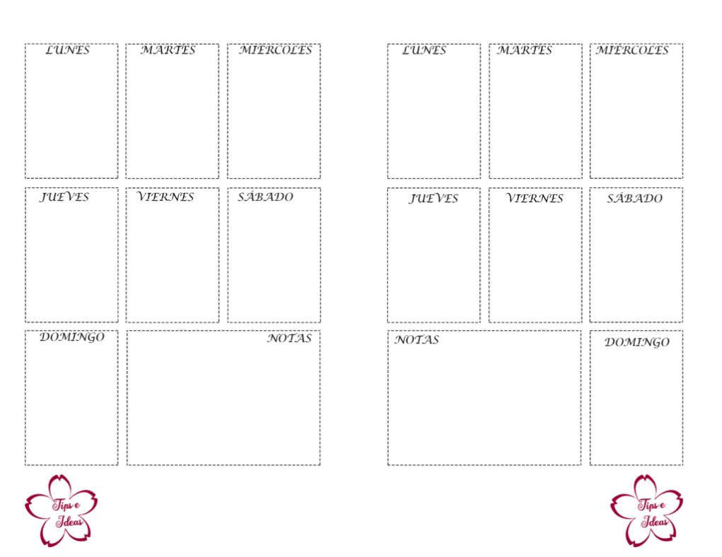 agenda para imprimir