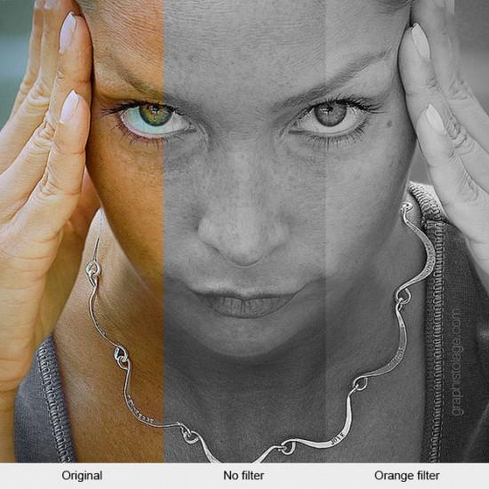 Contoh Foto BW dengan Filter Orange