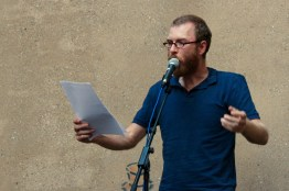 Christian Kreis beim Fußball Slam Juni 2018 Beyerhaus Leipzig Topical Island Poetry Slam