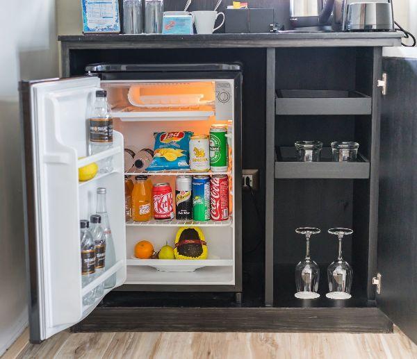 a hotel minibar fridge so expensive