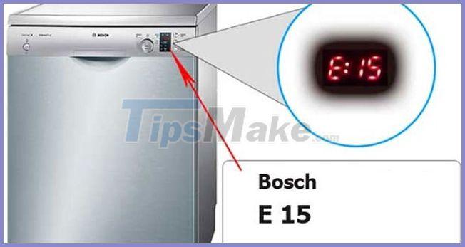Hình ảnh 2 trong 7 mã lỗi thường gặp trên máy rửa bát Bosch và cách khắc phục