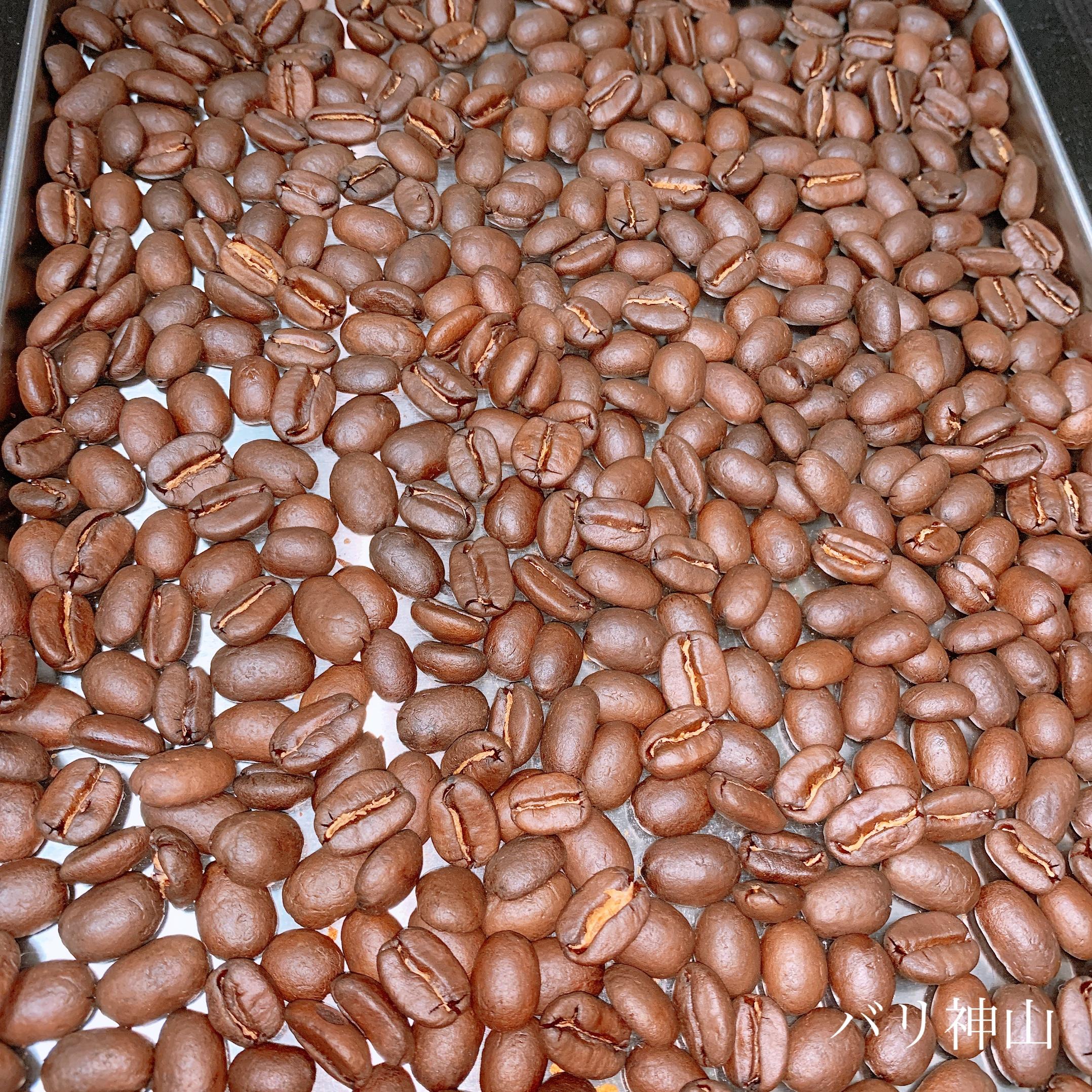 バリ神山 焙煎したてのコーヒー豆