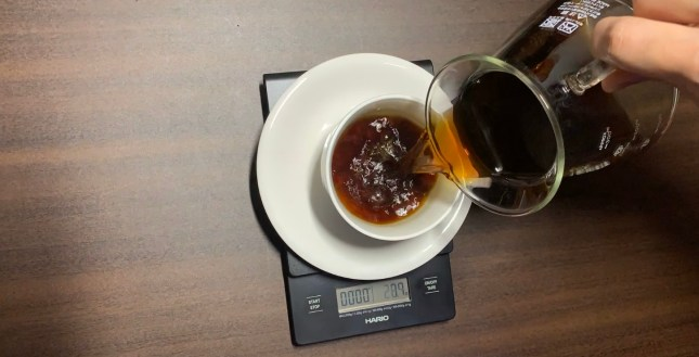 美味しいコーヒー完成。