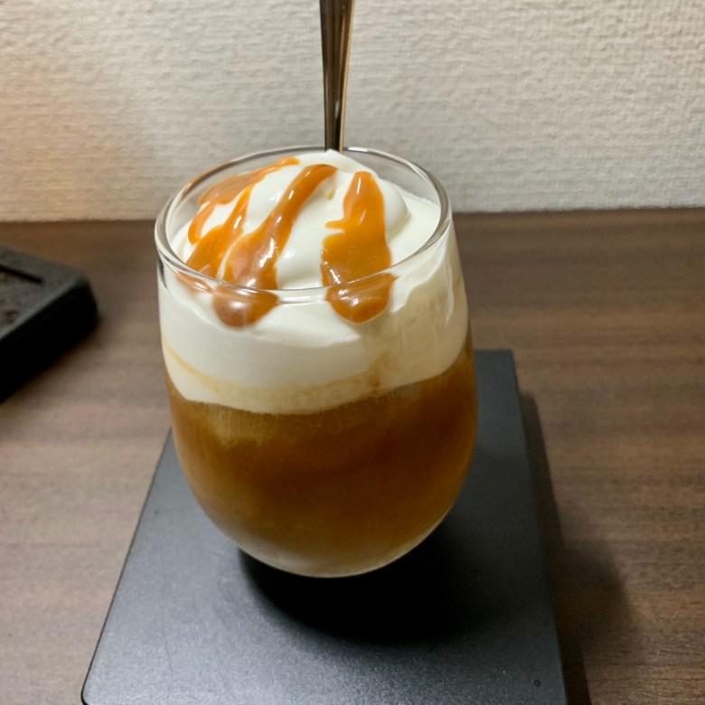 キャラメルアイスコーヒー