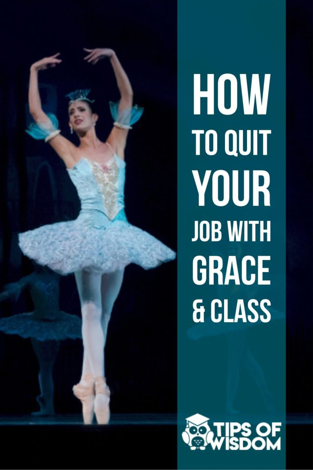 How To Quit Your Job With Grace  Class  Marketing Business And