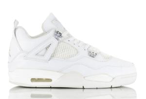 "finest selection f7e50 b8437 Air Jordan 4 Retro ""Pure Money"" White Metallic Silver-Pure Platinum 308497- 100. May 13, 2017"