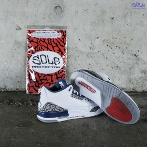 "0267e06a9826 Nike Air Jordan  3  III ""True Blue"" with Sole Protector™ On Sole Post  Testing"