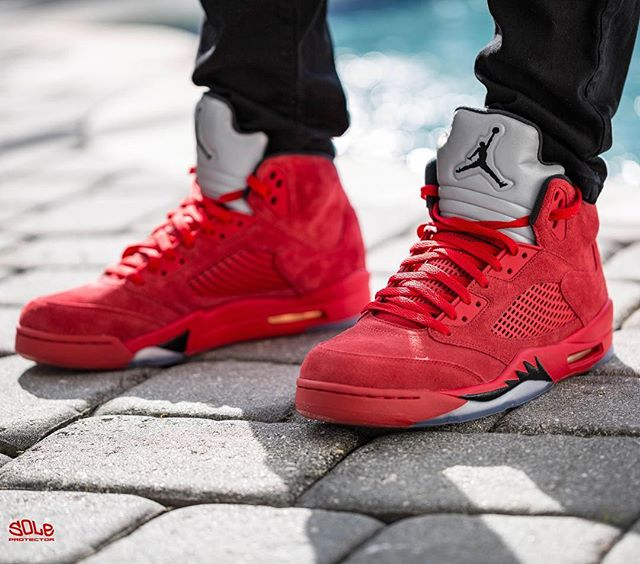 "size 40 8a770 f442b SP Sole Shouts: The Nike Air Jordan [5] V ""Red Suede"" On ..."
