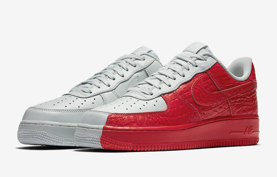 094215c04278 Nike Air Force 1 Low  Split  in White and Red – TIP SOLVER