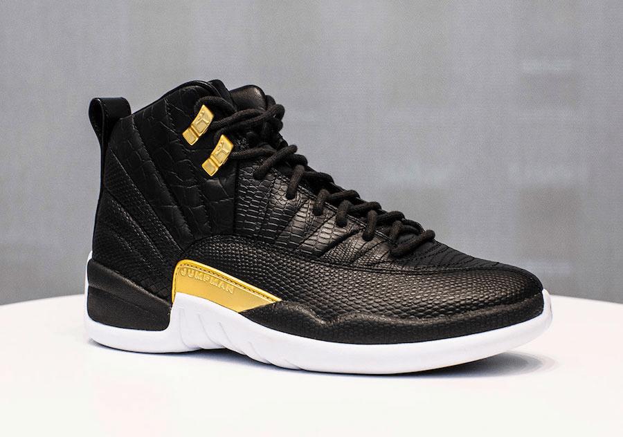 Air Jordan 12 WMNS Black and Gold