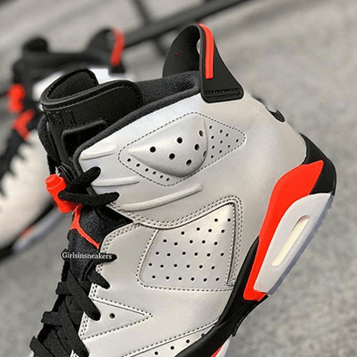 Nike air Jordans 6 Infrared with 3M reflective upper via Girlsinsneakers