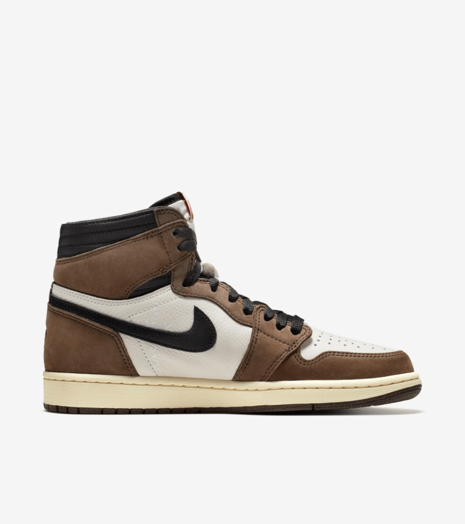 AIR JORDAN I HIGH TRAVIS SCOTT $175 AVAILABLE 5/11 AT 10:00 AM