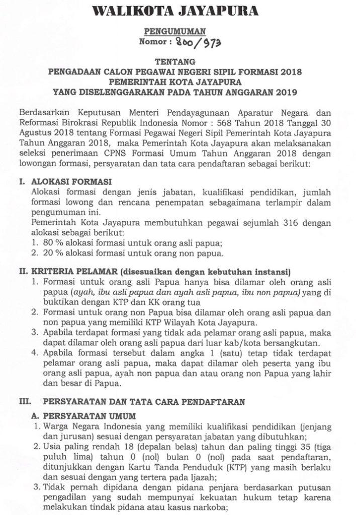 Cpns Papua 2019 : papua, Pengumuman, Papua, Informasi, CPNS/ASN, IndonesiaInfo, CPNS-ASN, Indonesia