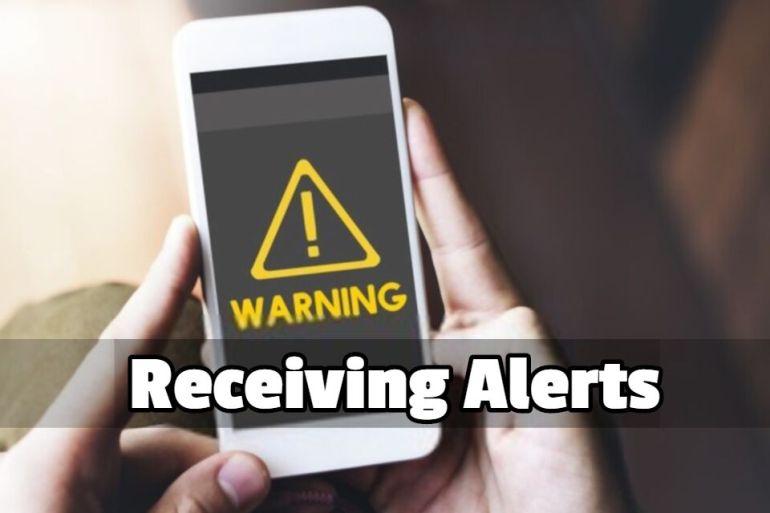Receiving alerts